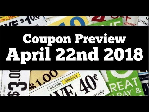 Coupon Insert Preview for Sunday April 22nd 2018 2 Inserts