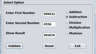 Java  NetBeans Arithmetic Operator of MDAS calculator