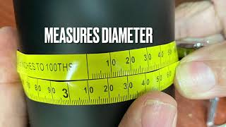 OD Tape-Outer Diameter aฑd 6FT Keychain Tap Measure