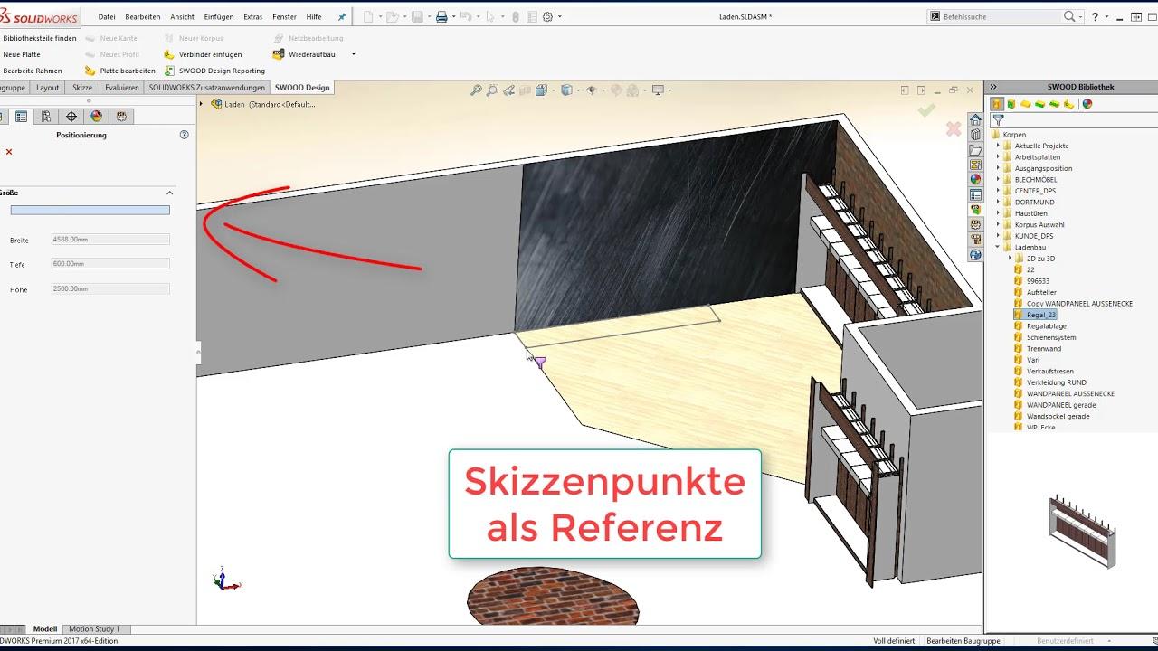 SWOOD Design - Konstruktion passt sich dem Grundriss an - YouTube