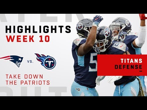 Titans Take Down Brady 3 Times in Victory Over Pats