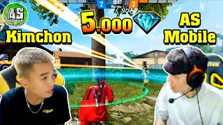 [Free Fire] AS Rủ Kimchon Solo 5000 Kim Cương Cực Khét !!! | AS Mobile
