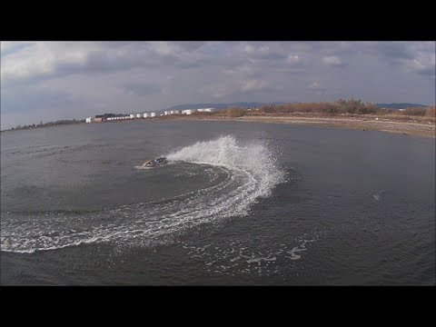 Large Scale RC boat action . RCMK OFFSHORE BOAT .GFKA RC ...