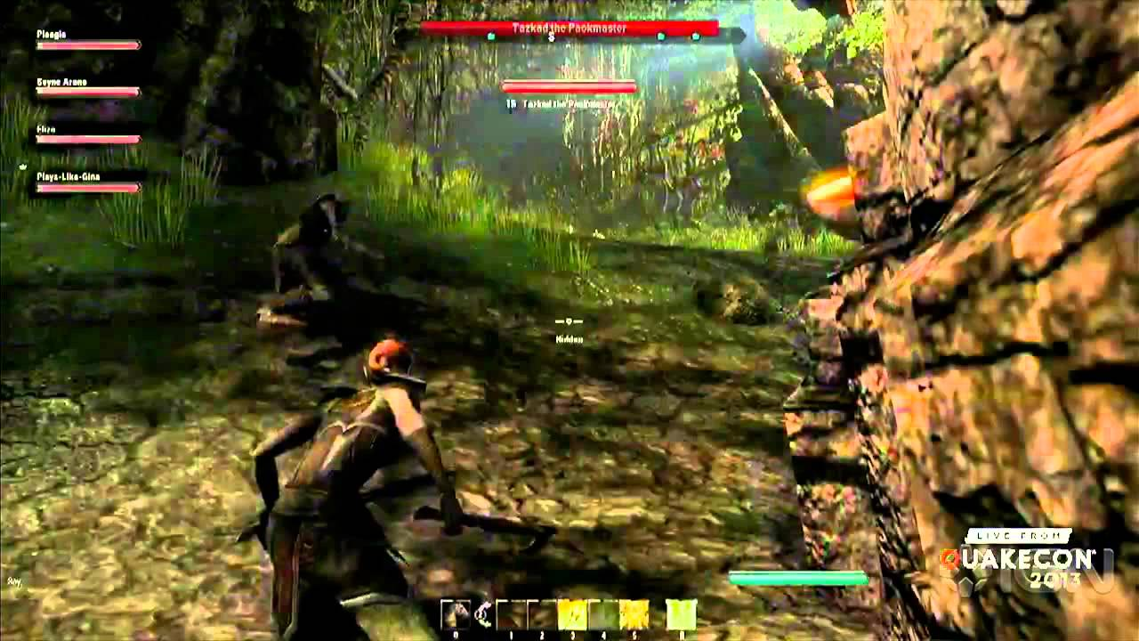 Видео The Elder Scrolls Online Gameplay - QuakeCon 2013