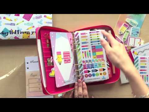 Unboxing Happie Scrappie Planner Kit ( Stationery Addict themed for March 2016 Box)