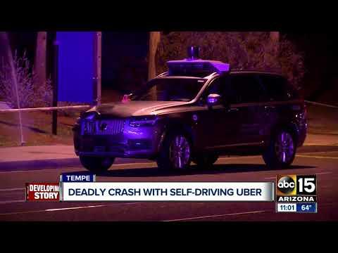 Self-driving Uber car hits, kills pedestrian in Tempe