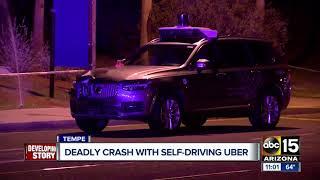 Self-driving Uber car hits, kills pedestrian in Tempe, Arizona