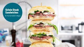 Sirloin Steak Sandwich with Horseradish Mayo