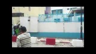 حرق ورشق مركز الشرطة في حي موسى ولاية جيجل