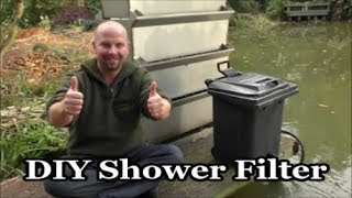 DIY Wheelie Bin Koi Shower Filter (great for healthy water in a fish pond)
