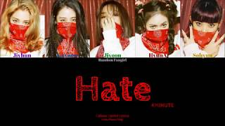 [REUPLOAD] 4MINUTE (포미닛) - Hate (싫어) [Colour Coded Lyrics Ha…