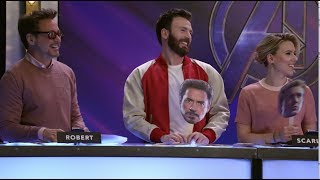 Who is most likely to laugh in a scene? Watch this video with the stars of Marvel Studios' Avengers: Endgame and find out! Get tickets and see the film in theaters ...