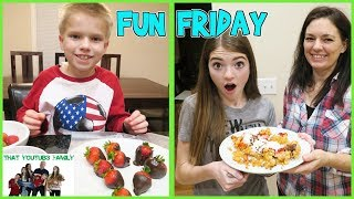 FUN FRIDAY FUNNEL CAKES and CHOCOLATE STRAWBERRIES / That YouTub3 Family