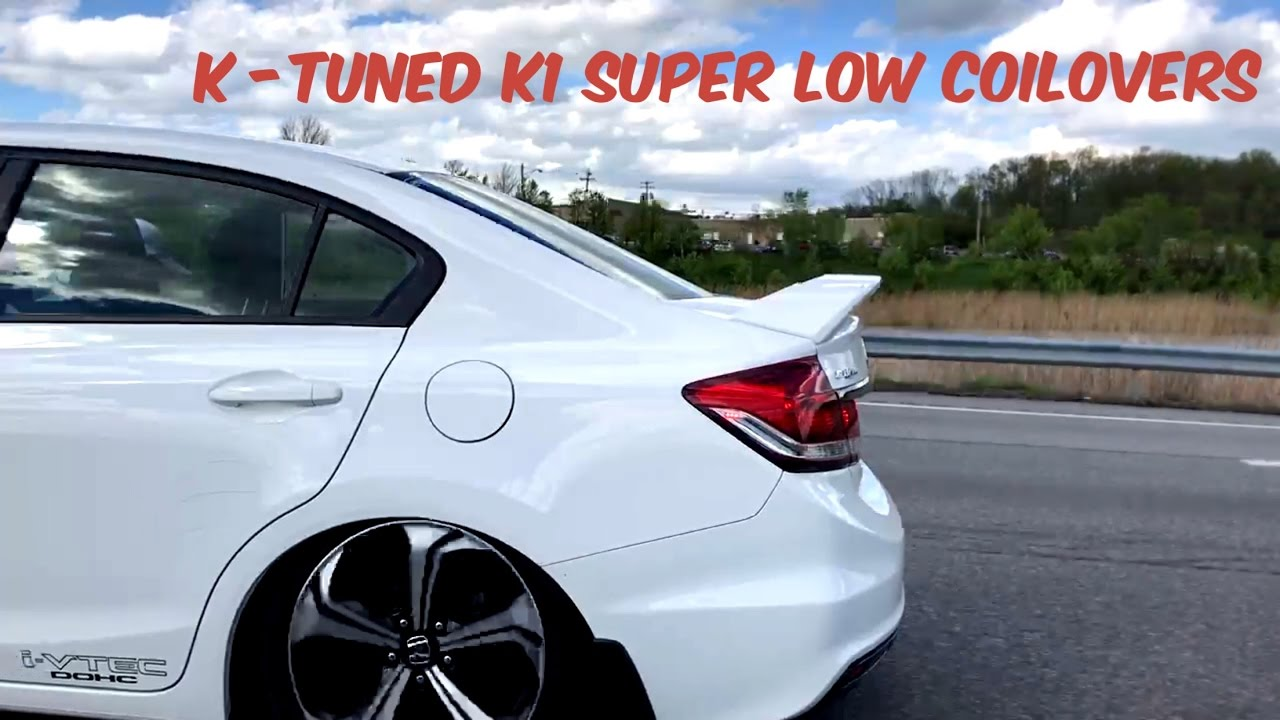 K Tuned K1 Super Low Coilovers Install 2015 Honda Civic Si Youtube