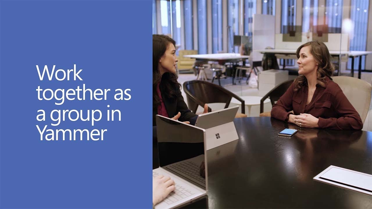 Work together as a group in Yammer