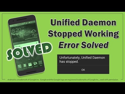 How to Solve Unified Daemon Stopped Error