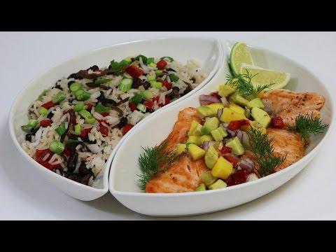 saumon-à-la-plancha,-salsa-mangue-et-avocat
