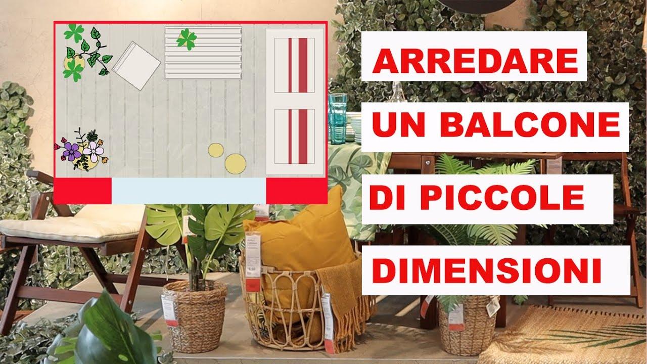 Come Arredare Un Balcone Di Piccole Dimensioni Arredi Ikea Piante E Fiori Youtube