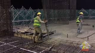 Clip đổ bê tông sàn tầng 26 Dự án Thái Nguyên Tower