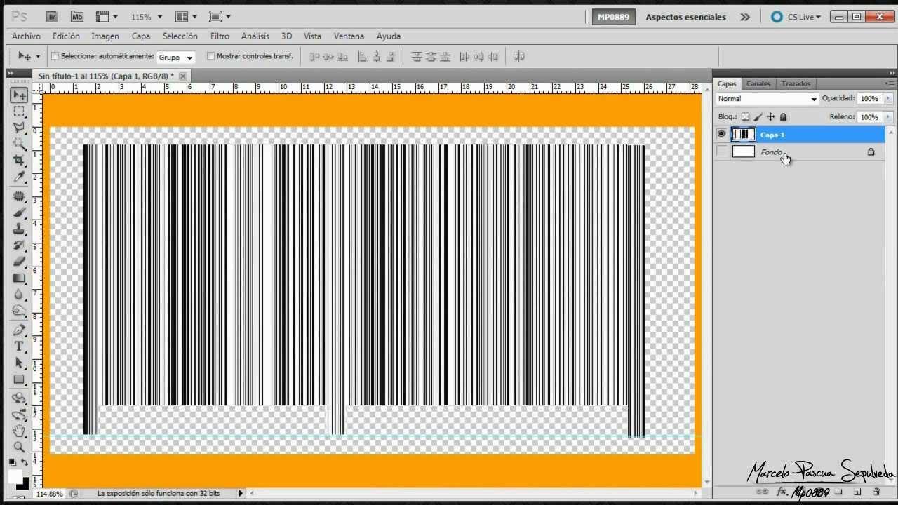 Como Crear Un Código De Barras Utilizando Adobe Photoshop