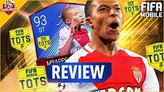 Fifa mobile 93 tots mbappe review #fifamobile tots mbappe lottin player review stats gameplay