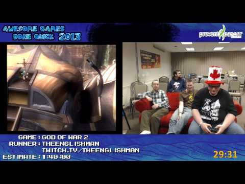 God of War 2 - Speed Run in 1:24:34 (Glitched) by theenglishman (Awesome Games Done Quick 2013) PS2