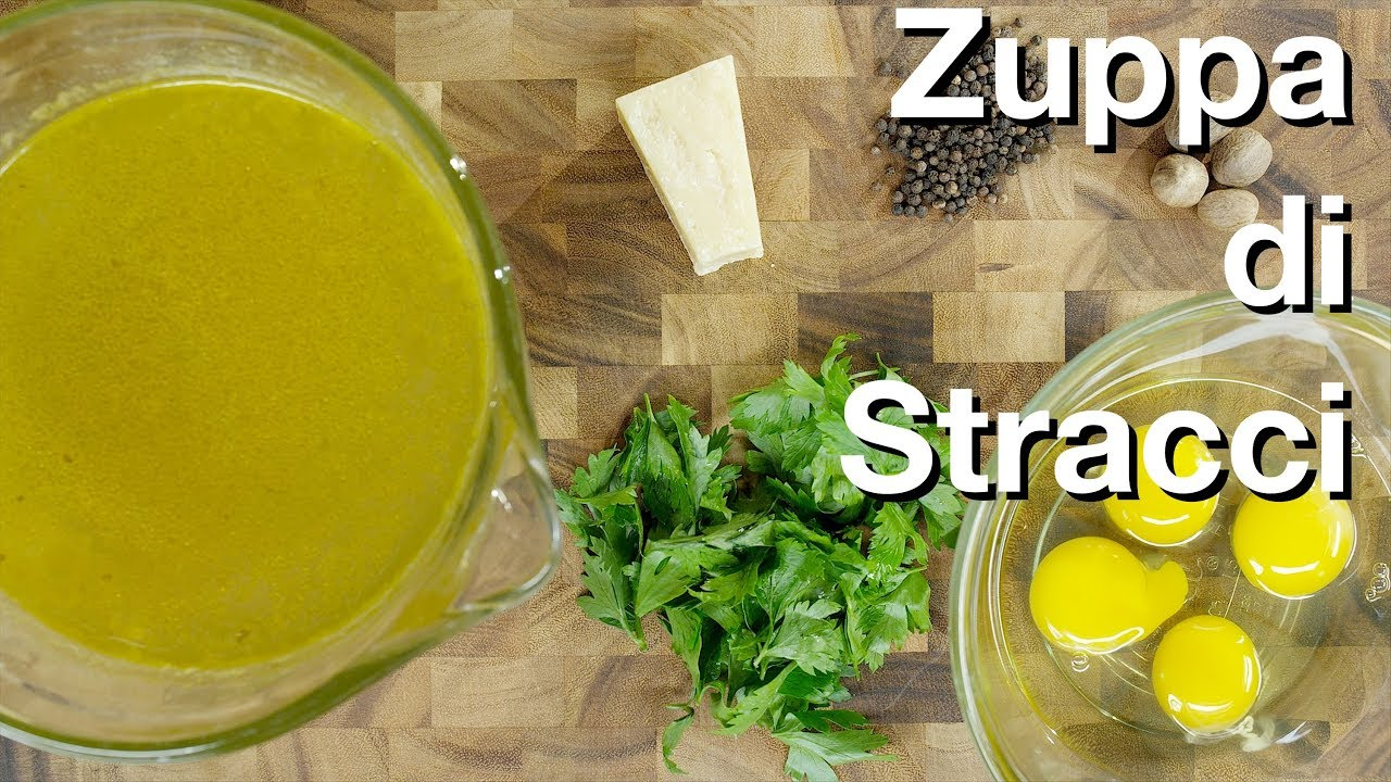 Zuppa di Stracci (Stracciatella Soup) Recipe - Le Gourmet TV - YouTube