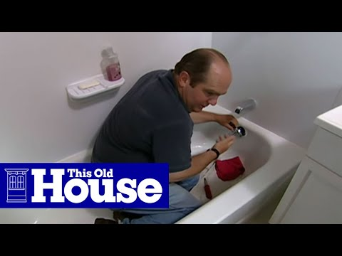 How To Clear A Clogged Bathtub Drain - This Old House - Youtube