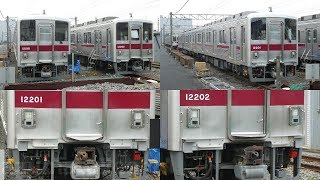 【東武10000系 11201F、11202F ワンマン改造工事状況】運転台付近のワンマン対応工事を実施している模様。
