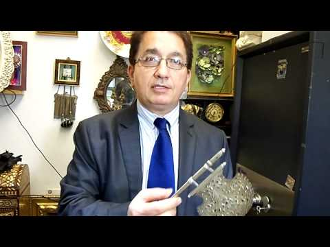 FROM NEW YORK - LUIS XVIII GEMS TV  PERSIAN ANTIQUE SILVER FAN part one