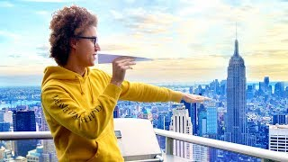 THROWING A PAPER AIRPLANE FROM THE 78TH STORY! *WORLD RECORD*