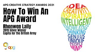 How to Win an APG Award (with Rhonwen Lally)