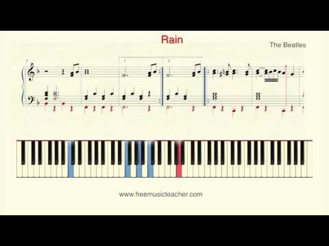 "How To Play Piano: The Beatles ""Rain"" Piano Tutorial by Ramin Yousefi"