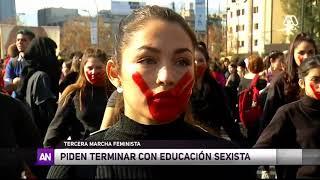 Tercera marcha feminista: Exigen fin de la violencia de género  - Ahora Noticias