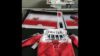 Sublimation printing on sports wear ,hoodies,t shirt heat transfer