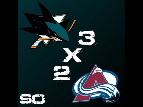 San Jose Sharks 3 x 2 Colorado Avalanche - SO - 11º Jogo da Temporada 2014-2015