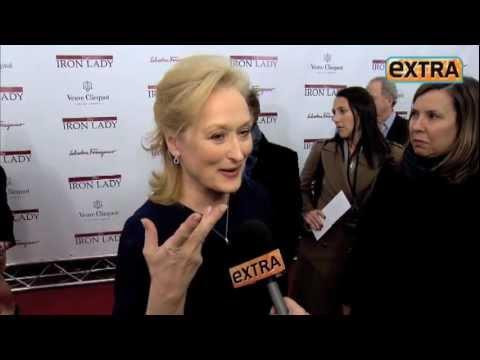 'Extra' Raw: Meryl Streep at 'Iron Lady' NYC Premiere