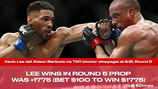 UFC Fight Night 128 Highlights! Kevin Lee Finishes Edson Barboza In Bloody Beatdown