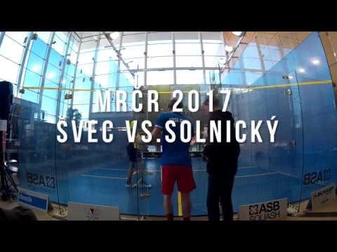 MČR Squash 2017-  Švec vs. Solnický - Celý zápas