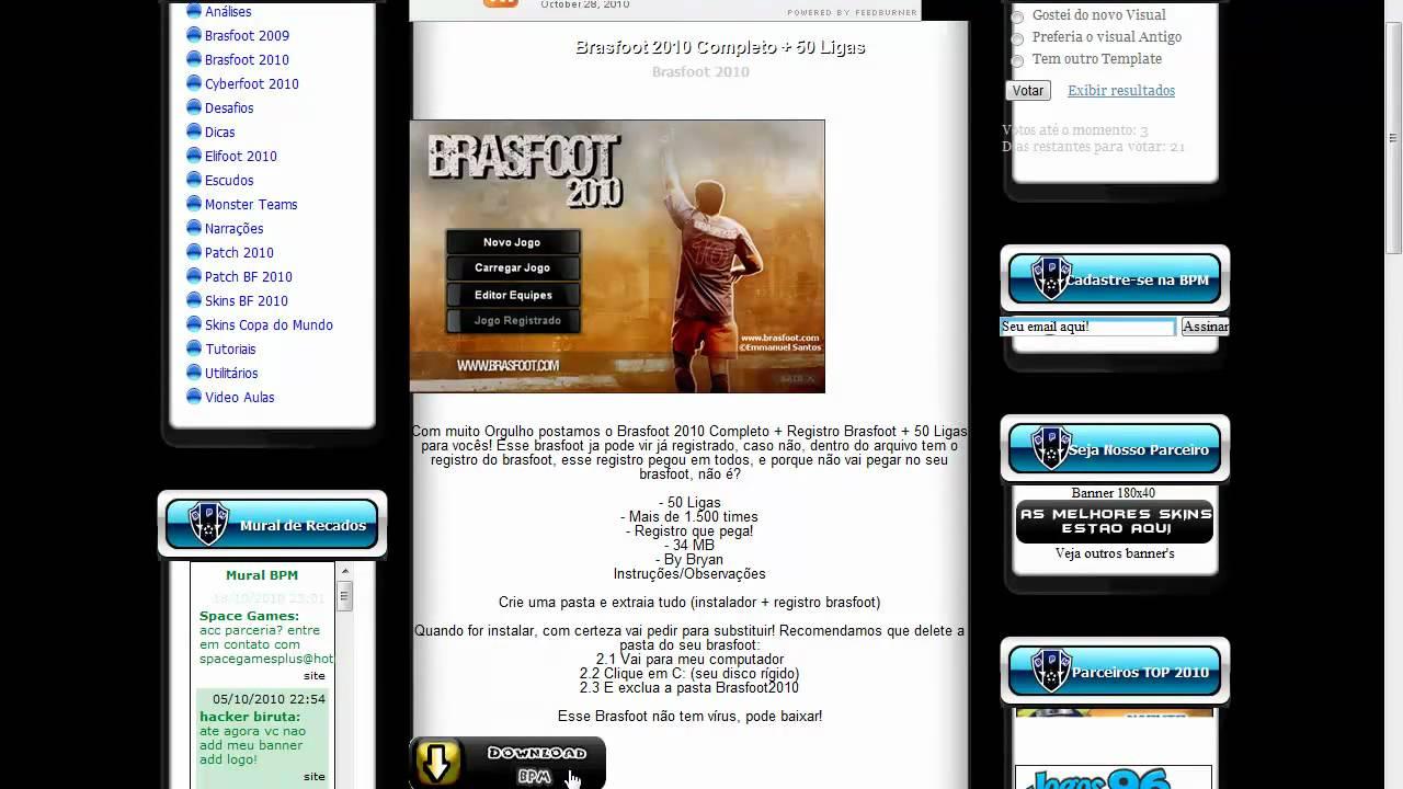 brasfoot 2010 ja registrado para