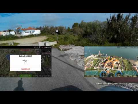 Parrot Bebop 2 flying to Lazareto in more than 1km distance