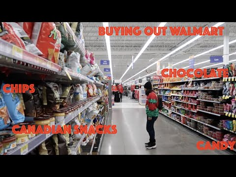 Buying Out Walmart Canada 2.0 | VLOG #21 | Canadian Snacks Haul