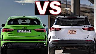 2021 Mercedes gla vs Audi Q3 (2021) GLA 45 vs RS Q3 Sportback! Luxury small SUVs! (review) gla, q3.