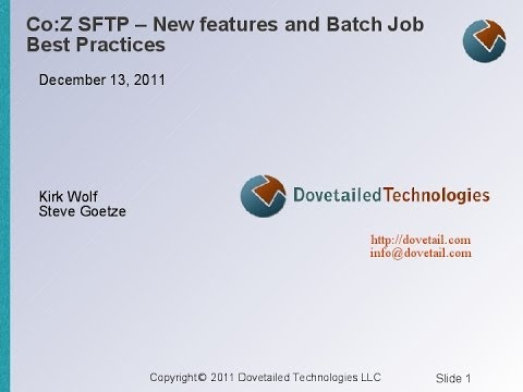 Co:Z SFTP - New features and Batch Job Best Practices