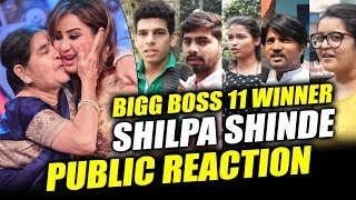 Public Congratulates Shilpa Shinde For WINNING BIGG BOSS 11 | Shilpa Shinde Crazy Fans