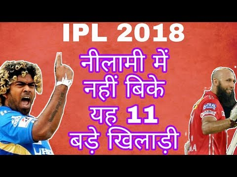 IPL 2018: TOP 11 UNSOLD BIG PLAYERS IN IPL AUCTION |