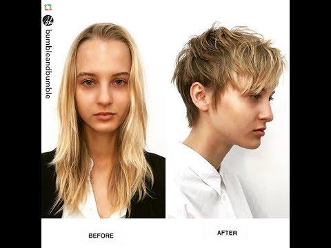 до стрижки и после фото