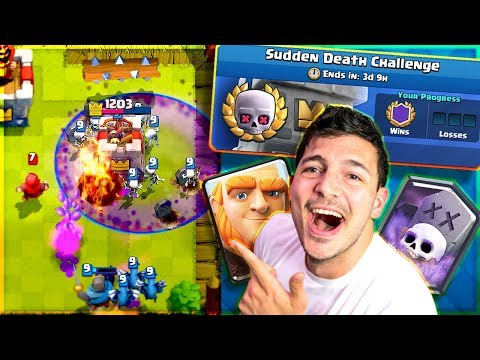 AWESOME SUDDEN DEATH DECK! - Clash Royale Nickatnyte