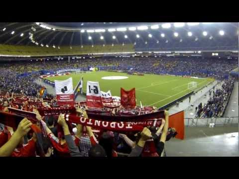 Toronto FC supporters at Olympic Stadium. March 16, 2013.