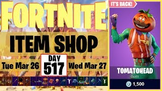 Tomatohead Skin + Wukong Skin | IT'S BACK! | Fortnite Item Shop #517 | 26 March 2019